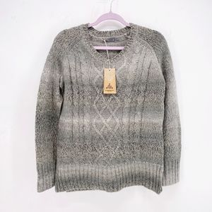 Prana Leisel Cable Knit Ombre Sweater